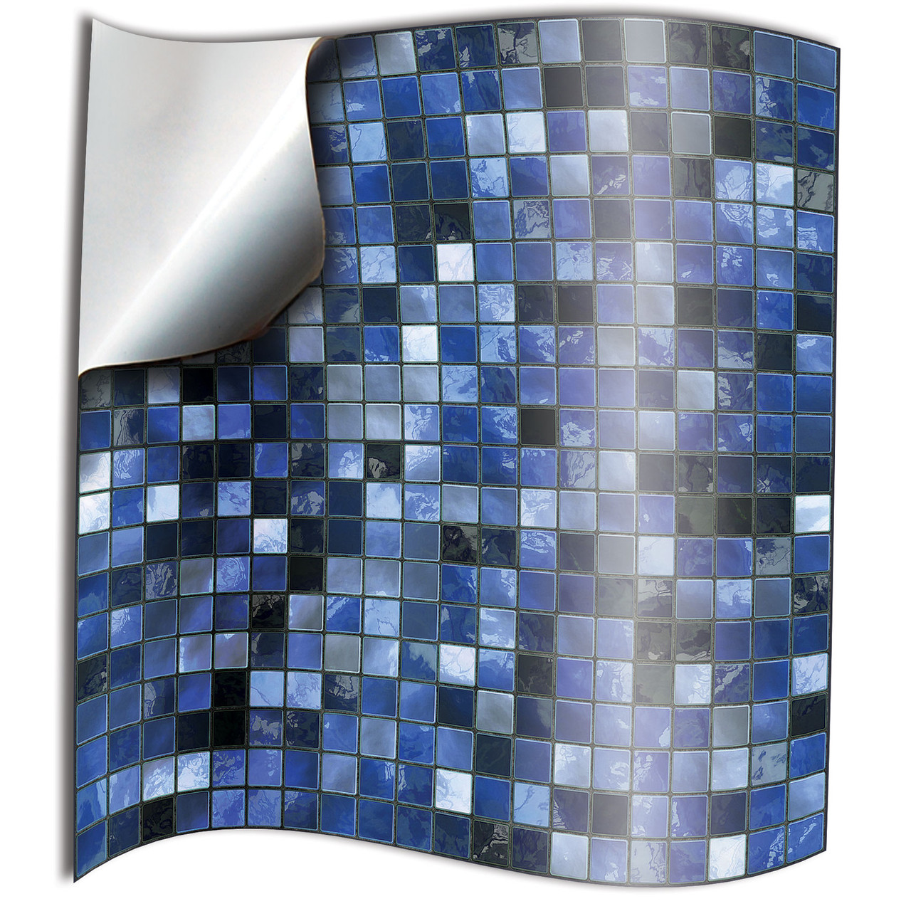 24 Blue Mosaic Bathroom Tile Stickers 6x6 Inch Kitchen Bathroom Waterproof Removable Tile Style Decals