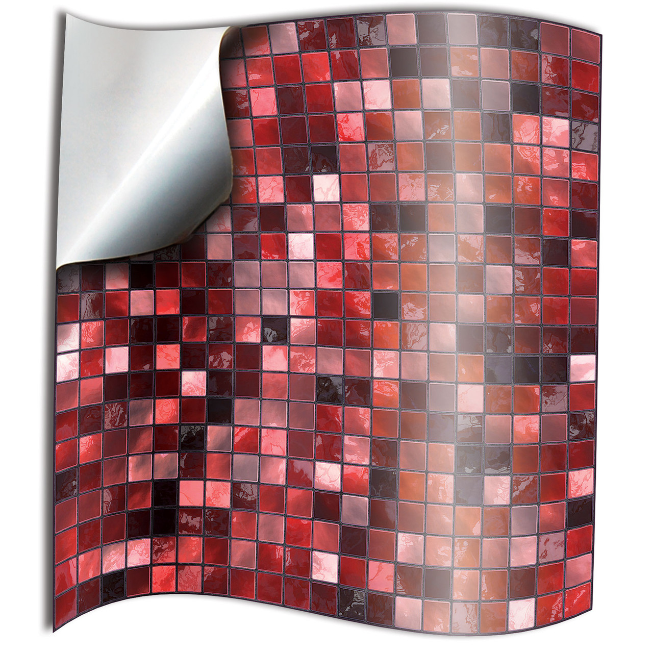 24 Red Tile Stickers Kitchen Bathroom Tile Transfers 6x6 inch budget cheap  red Mosaic Style Tile Stickers Transfers 6x6 inches uk discount
