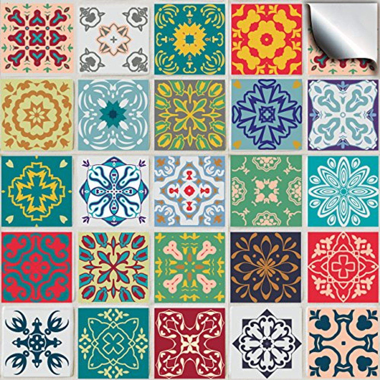 Tile Style Decals 24 Kitchen Tile Stickers For 6 Inch 15cm Square Tiles Directly From No Middleman Tp50 6 Pack Of 24