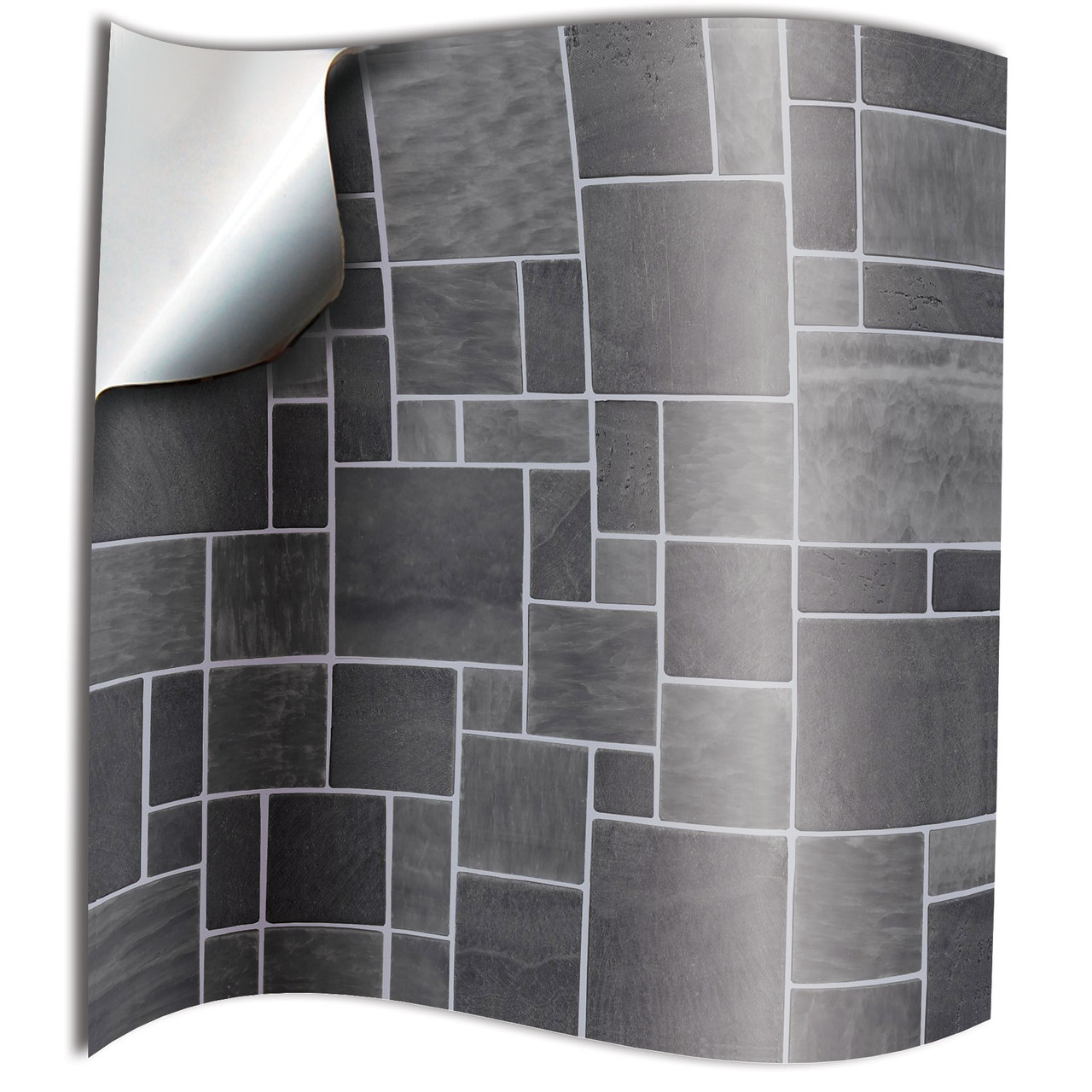 24 Printed In 2d Kitchen Bathroom Tile Stickers For 6 Inches 15 Cm Square Tiles Tp31 Dark Grey Direct Supply No Middleman