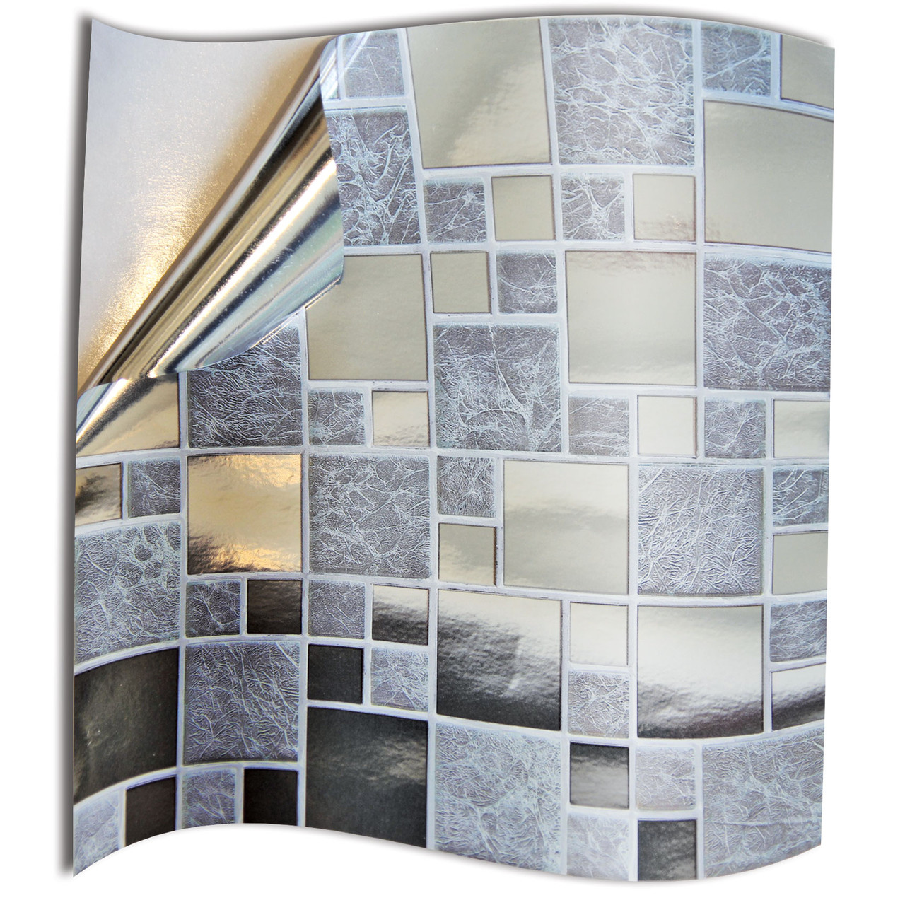 24 Silver Chrome Shiny Removable Kitchen Tile Stickers Bathroom Tile Covers 6 Inch 150 X 150mm