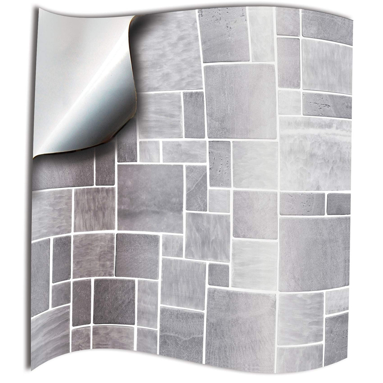 24pc Light Grey Kitchen Tile Stickers For 100mm Tp31 4 Inch Square Tiles Directly From Tile Style Decals No Middleman 4 X4 Pack Of 24
