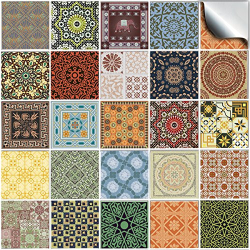 Tile Style Decals 24 Kitchen Bathroom Tile STICKERS For ...