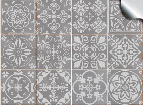 """40 x Light Grey Tile Decals//Stickers//Transfers 15.2cm//6/""""inch Bathroom Kitchens"""