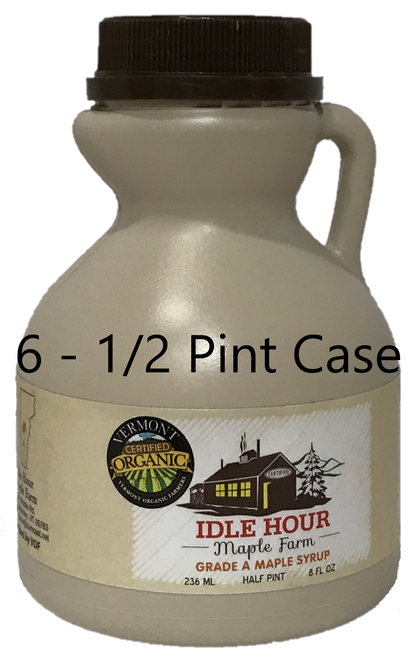 6 - Half Pint Case of 100% Pure Vermont Organic Maple Syrup