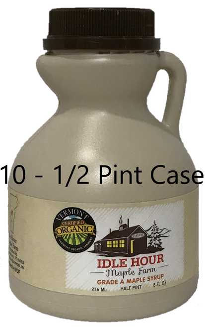 10 - Half Pint Case of 100% Pure Vermont Organic Maple Syrup