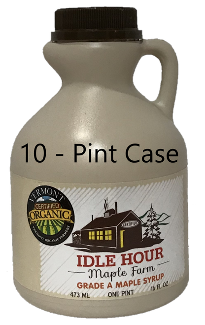 10 - Pint Case of 100% Pure Vermont Organic Maple Syrup