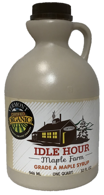 Quart - 100% Pure Vermont Organic Maple Syrup