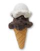 7.5 Inch Premium Stuffed  Latex Double Scoop Ice Cream Cone