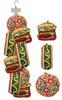 Clip Strip of Scoochzilla Dog Toys 9 Per Clip Strip, Pizza, Hot Dog and Burger