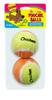 2 Pack Chicken Tennis Balls Scoochie Poochie Brand
