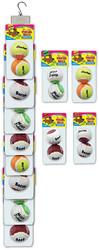 Clip Strip of 2 Pack Flavored Tennis Balls 8 Per Clip Strip