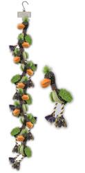 Clip Strip of Plush Fuzz Birds 10 Per Clip Strip