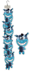 Clip Strip of Plush Happy Day Faces 9 Per Clip Strip