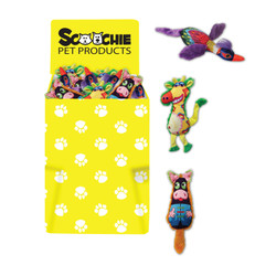 Dump Bin of Scoochie Mardi Gras Birds, Gina Giraffes and Full Belly Pigs 54 Pieces