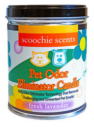 Scoochie Scents Fresh Lavender Pet Odor Eliminator Candle Tin