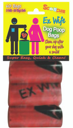 Scoochie EX WIFE 3 Pack Poop Bags In Bag and Header