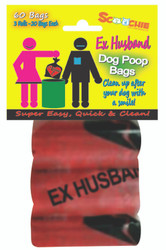 Scoochie EX HUSBAND  3 Pack Poop Bags In Bag and Header