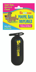 Scoochie Poop Dispenser With Refill Roll Bag and Header