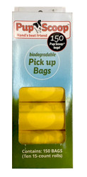 Yellow Pupscoop Poop Bags 10 Pack