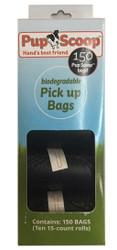 Black Pupscoop Poop Bags 10 Pack