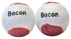 2 Pack Bacon Tennis Balls Scoochie Poochie Brand
