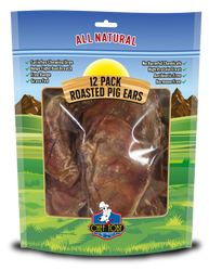 12 Pack Roasted Pig Ears In A Printed Zip Lock, Pegable Full Color Bag With Window