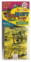 Description Heavy Doody Pooop Bags 6 Rolls, 60 Bags