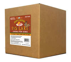 Bacon & Cheddar Loaded Pig Ears 100 Bulk Per Box