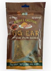 Bacon & Cheddar Loaded Pig Ears 1 Pack Pegable Zip Lock Bag
