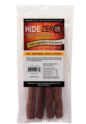 Hide Zero 10 Inch 4 Pack Bully Flavored Rawhide Alternative Chew in Zip Lock Bag