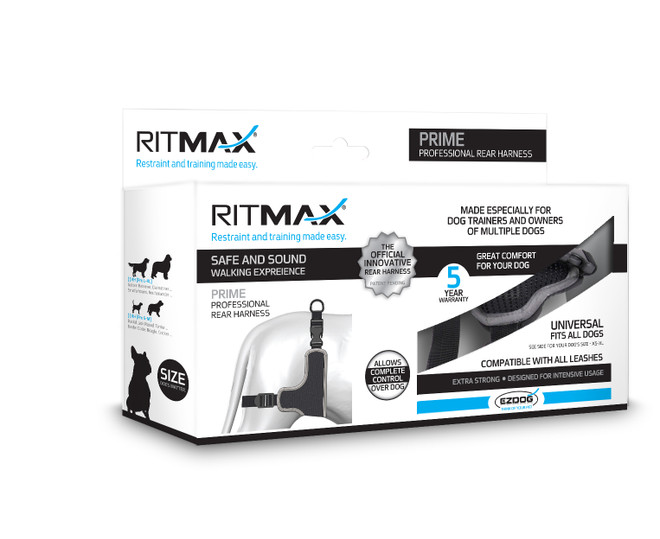 X Large Black EZ Dog By Ritmax Rear Harness