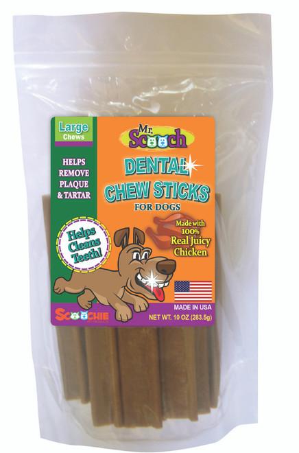 10 Ounce Mr. Scooch Juicy Chicken Dental Chews Large