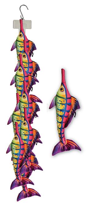 Clip Strip of Plush 14 Inch Carlie Fish 9 Per Clip Strip