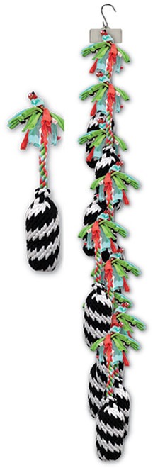 Clip Strip of Small Super Scooch Firecracker Ropes 9 Per Clip Strip