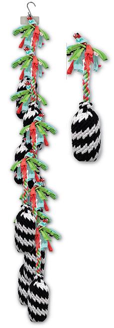 Clip Strip of Large Super Scooch Firecracker Ropes 8 Per Clip Strip