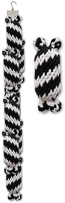 Clip Strip of Large Super Scooch Rope Squeaker Men 8 Per Clip Strip
