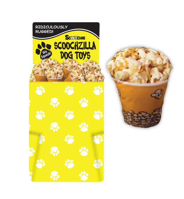 Dump Bin of Scoochzilla 9.5 inch Puppy Popcorn 50 Pieces