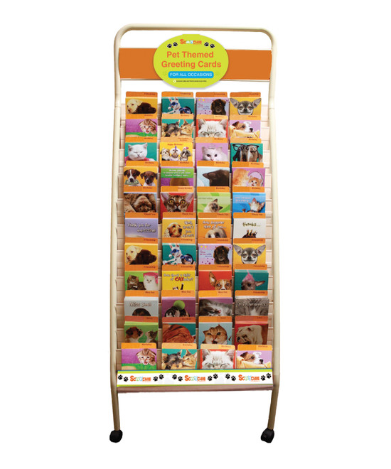 Pet Themed Greeting Card Rack 264 Card Rolling Display