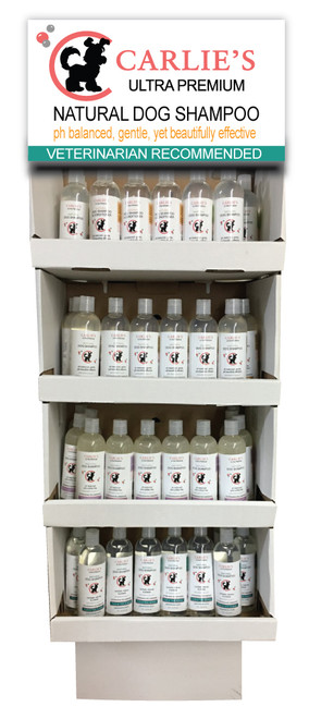 Carlies Ultra Permium Pet Shampoo Display Rack 60 pieces
