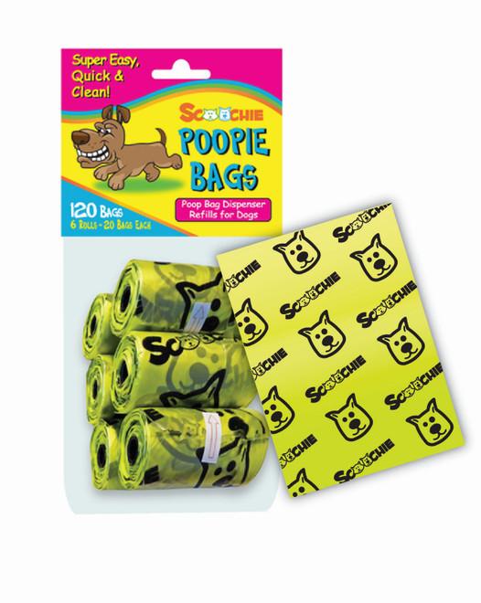 Scoochie Poop 6 Pack Poop Bags In Bag and Header