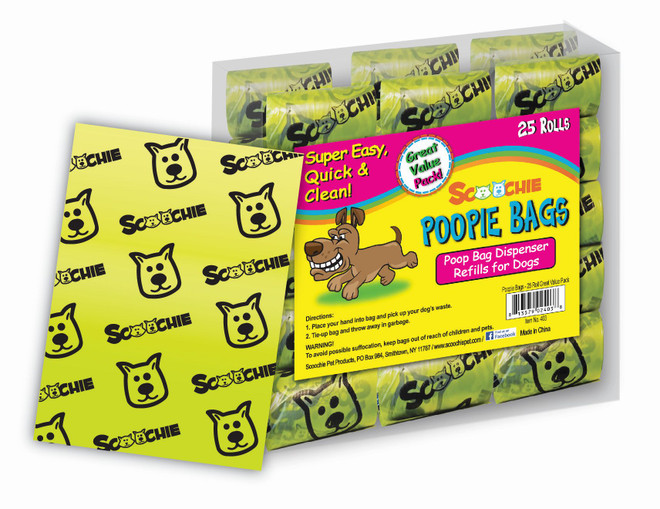 Scoochie 25 Roll Super Value Pack Poop Bags