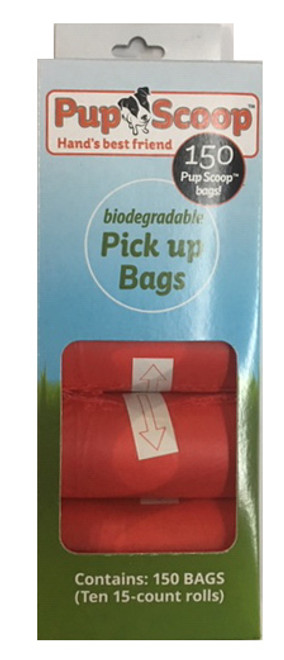 Red Pupscoop Poop Bags 10 Pack