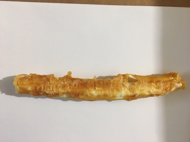9 Inch Chicken & Rawhide Twister Stick Shrink with UPC