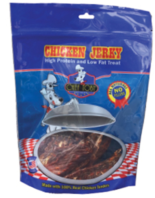 3 Ounce Chef Toby Brazilian Chicken Jerky Zip Lock Bag