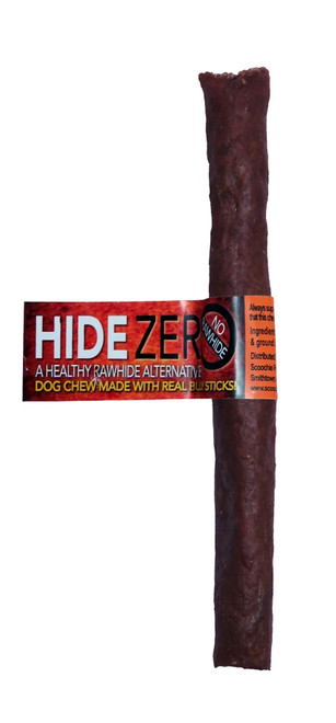 Hide Zero 6 Inch Bulk With Cigar Band Bully Flavored Rawhide Alternative