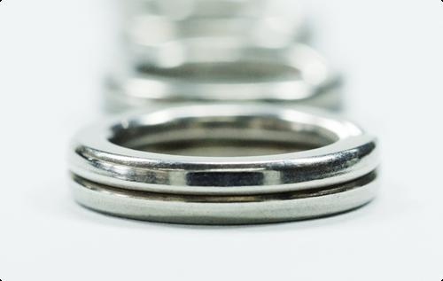 HITENA 100/% stainless steel Split Ring