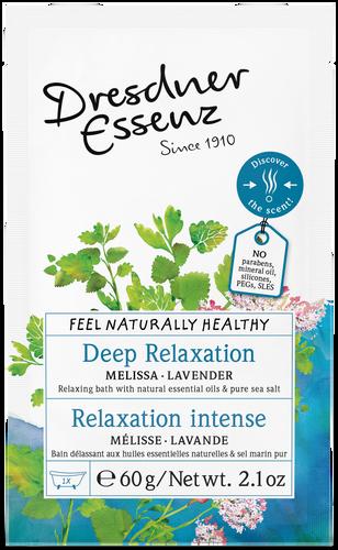 Deep Relaxation Bath Salt with natural essential lavender & melissa.
