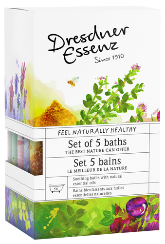 The best nature can offer - Set of 5 selected Herbal Bath salts.