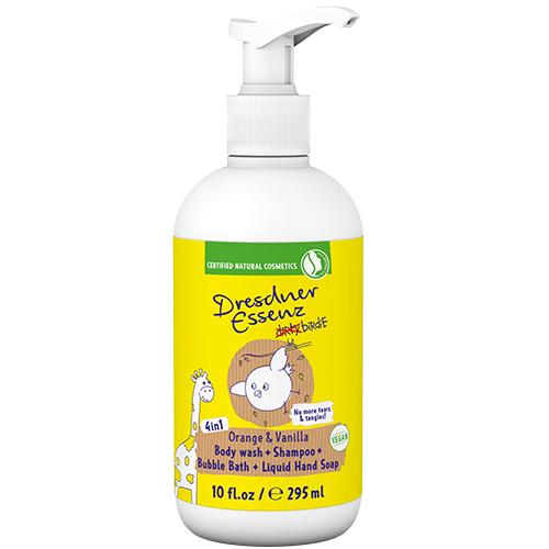 dirty birdie 4 in 1 Body Wash for Kids Orange/Vanilla